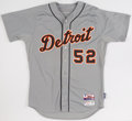 Baseball Collectibles:Uniforms, 2015 Yoenis Cespedes Game Worn Detroit Tigers Jersey with MLB Hologram. ...