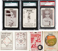 Baseball Cards:Lots, 1913 WG5 National Game/Fenway Breweries Collectibles (7 Items) WithFenway Breweries Frank Baker. ...
