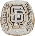 Baseball Collectibles:Others, 2014 San Francisco Giants World Series Championship Ring Presented to Scout....
