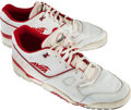 Basketball Collectibles:Others, Circa 1990 Clyde Drexler Game Worn Shoes - From Family of SandyGrossman. ...
