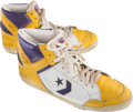 Basketball Collectibles:Others, 1980's Magic Johnson Game Worn Shoes, Both Right Foot - From Familyof Sandy Grossman. ...