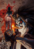 Pulp, Pulp-like, Digests, and Paperback Art, Joe DeVito (American, b. 1957). Lobo: Smokin', 1993. Oil onboard. 21 x 14 in.. Signed lower right. From the Frank C...