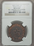 Chile, Chile: Republic Centavo 1835 MS62 Brown NGC,...