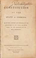 Books:Americana & American History, [Georgia] The Constitution of the State of Georgia. As Revised,Amended and Compiled, by the Convention of the State, At...