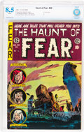 Golden Age (1938-1955):Horror, Haunt of Fear #28 (EC, 1954) CBCS VF+ 8.5 White pages....