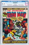 Bronze Age (1970-1979):Superhero, Iron Man #55 (Marvel, 1973) CGC VF+ 8.5 Off-white pages....