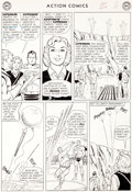 """Original Comic Art:Panel Pages, Curt Swan and George Klein Action Comics #304 """"TheInterplanetary Olympics"""" Page 8 Original Art (DC, 1963)...."""