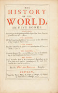 Books:World History, Sir Walter Ralegh, or Raleigh. The History of the World, in FiveBooks. The First, Intreating of the Beginning a...