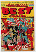 Golden Age (1938-1955):Superhero, America's Best Comics #10 (Nedor Publications, 1944) Condition: VG....