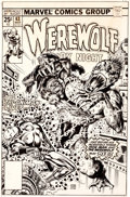 Original Comic Art:Covers, Ernie Chan Werewolf by Night #43 Cover Iron Man Original Art(Marvel, 1977)....