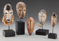 Tribal Art, Five Masks, Democratic Republic of Congo... (Total: 5 Items)