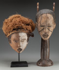 Tribal Art, Two African Masks... (Total: 2 Items)