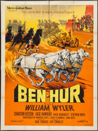 "Ben-Hur (MGM, 1959). French Grande (47"" X 63""). Academy Award Winners"