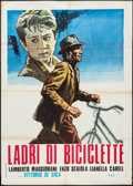 "Movie Posters:Foreign, The Bicycle Thieves (ENIC, R-1964). Italian 2 - Foglio (39.5"" X 55""). Foreign.. ..."