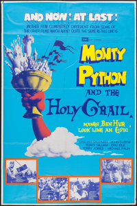 "Monty Python and the Holy Grail (EMI, 1975). British Bus Shelter (40"" X 59.75""). Comedy"