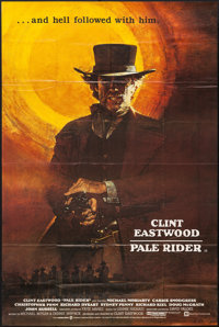 "Pale Rider (Columbia-EMI-Warner Bros., 1985). British Bus Stop (40"" X 60""). Western"