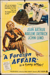 "A Foreign Affair (Paramount, 1948). One Sheet (27"" X 41""). Comedy"