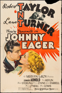 "Johnny Eager (MGM, 1942). One Sheet (27"" X 41"") Style C. Film Noir"
