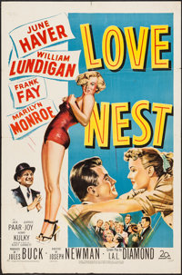 "Love Nest (20th Century Fox, 1951). One Sheet (27"" X 41""). Comedy"