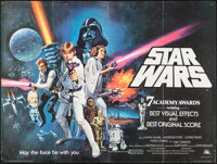 "Star Wars (20th Century Fox, 1977). British Quad (30"" X 40"") Academy Awards Style. Science Fiction"