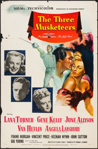 "The Three Musketeers (MGM, 1948). One Sheet (27"" X 41"") Style C. Swashbuckler"