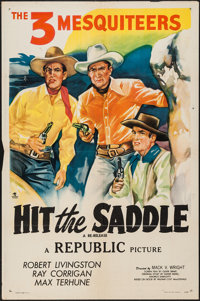 "Hit the Saddle (Republic, R-1940s). Stock One Sheet (27"" X 41""). Western"