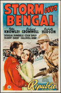 "Movie Posters:Adventure, Storm Over Bengal (Republic, 1938). One Sheet (27"" X 41"").Adventure.. ..."