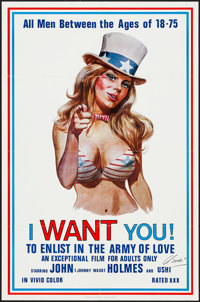 """I Want You! (Carroll Pictures, 1970). Autographed One Sheet (23"""" X 35""""). Adult"""