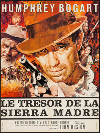 "The Treasure of the Sierra Madre (Athos, R-1962). French Affiche (22.5"" X 30.25""). Film Noir"