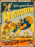 """Movie Posters:Animation, Popeye Stock Poster (Paramount, R-1940s). French Affiche (23.25"""" X 31.25""""). Animation.. ..."""