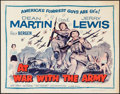 """Movie Posters:Comedy, At War with the Army (Omat, R-1958). Half Sheet (22"""" X 28""""). Comedy.. ..."""