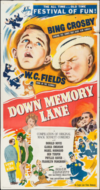 "Down Memory Lane (Eagle Lion, 1949). Three Sheet (41"" X 79""). Comedy"