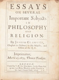 Books:Religion & Theology, Joseph Glanvill. Essays On Several Important Subjects InPhilosophy And Religion. London: J.D[arby]., 1676....