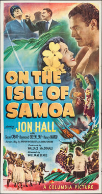 "On the Isle of Samoa (Columbia, 1950). Three Sheet (41"" X 80""). Adventure"
