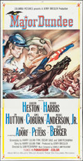 "Movie Posters:Western, Major Dundee (Columbia, 1965). Three Sheet (41"" X 79""). Western.. ..."
