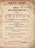 Books:Reference & Bibliography, Job Ludolph. [Ethiopic text:] Lexicon Aethiopico-Latinum exomnibus libris impressis, nonnullisque manuscriptis collectu...