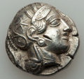 Ancients:Greek, Ancients: ATTICA. Athens. Ca. 454-404 BC. AR tetradrachm (17.05gm)....