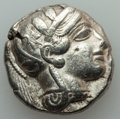 Ancients:Greek, Ancients: ATTICA. Athens. Ca. 454-404 BC. AR tetradrachm (17.07gm)....