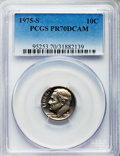 Proof Roosevelt Dimes, 1975-S 10C PR70 Deep Cameo PCGS. PCGS Population (83). NGC Census:(0). Numismedia Wsl. Price for problem free NGC/PCGS co...