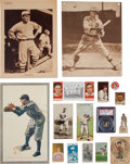 Baseball Cards:Lots, 1900's - 1920's Baseball Cards, Post Cards Grab Bag Collection (29)With Print Errors. ...
