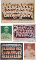 Baseball Cards:Lots, 1940's Cuban Baseball Team/Player Photos, Ads and Premiums Collection (13). ...