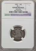 Bust Dimes, 1822 10C JR-1, R.4, -- Holed -- NGC Details. Good. NGC Census:(3/30). PCGS Population (0/2). Mintage: 100,000. ...
