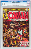 Bronze Age (1970-1979):Superhero, Conan the Barbarian #24 (Marvel, 1973) CGC NM 9.4 Off-white to white pages....