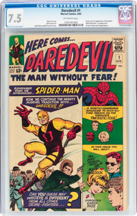 Daredevil #1 (Marvel, 1964) CGC VF- 7.5 Off-white pages