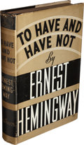 Books:Literature 1900-up, Ernest Hemingway. To Have and Have Not. New York:Charles Scribner's Sons, 1937....