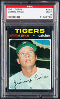 Baseball Cards:Singles (1970-Now), 1971 Topps Jimmie Price #444 PSA Mint 9....