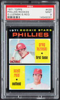 Baseball Cards:Singles (1970-Now), 1971 Topps Phillies Rookies #439 PSA Mint 9....