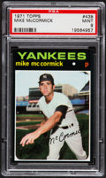 Baseball Cards:Singles (1970-Now), 1971 Topps Mike McCormick #438 PSA Mint 9 - Pop Four, NoneHigher....