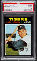 Baseball Cards:Singles (1970-Now), 1971 Topps Mickey Stanley #524 PSA Mint 9....
