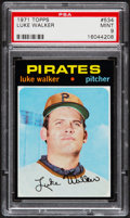 Baseball Cards:Singles (1970-Now), 1971 Topps Luke Walker #534 PSA Mint 9....